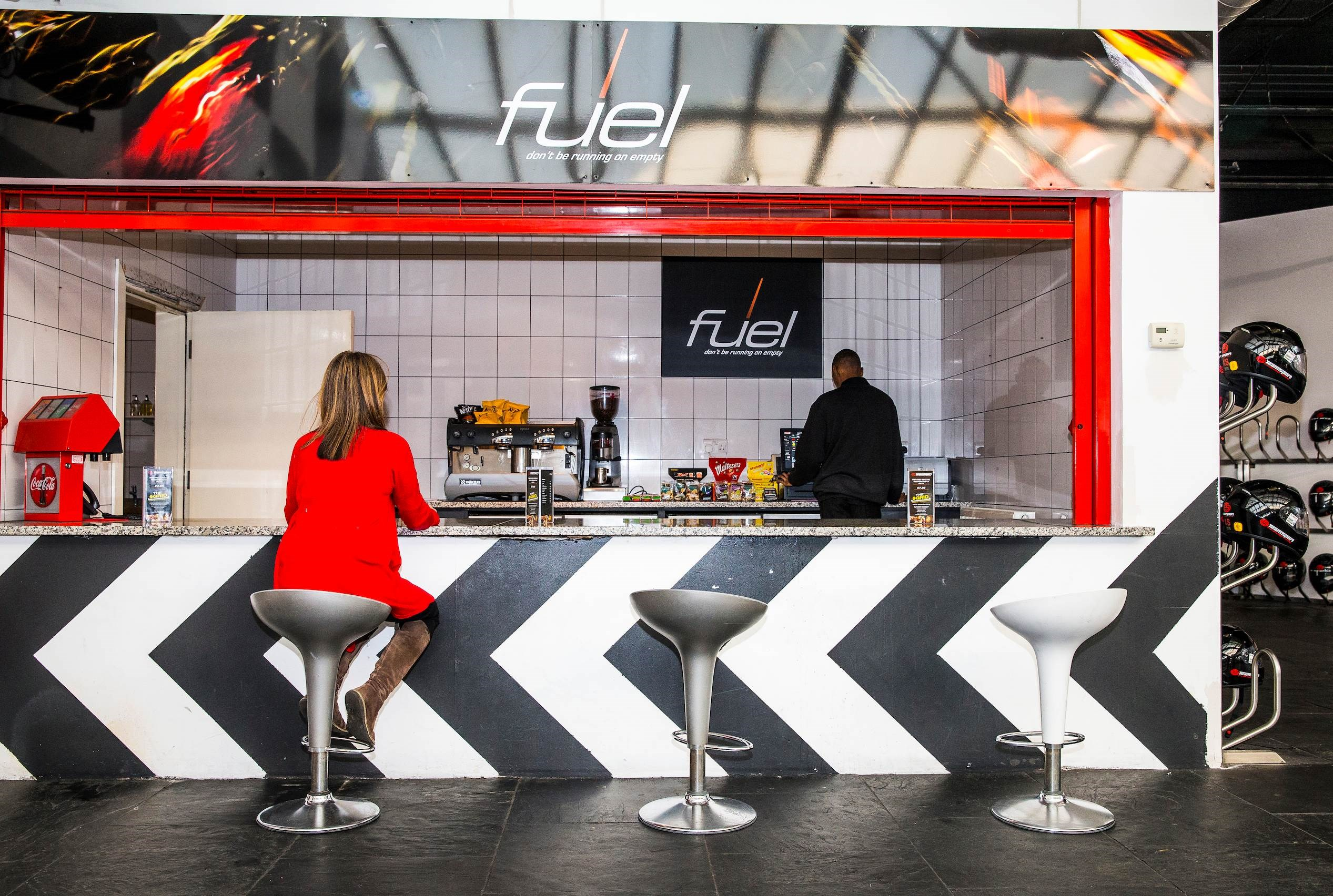 Indoor Go Karting  Events London Docklands - Fuel Bar & Food