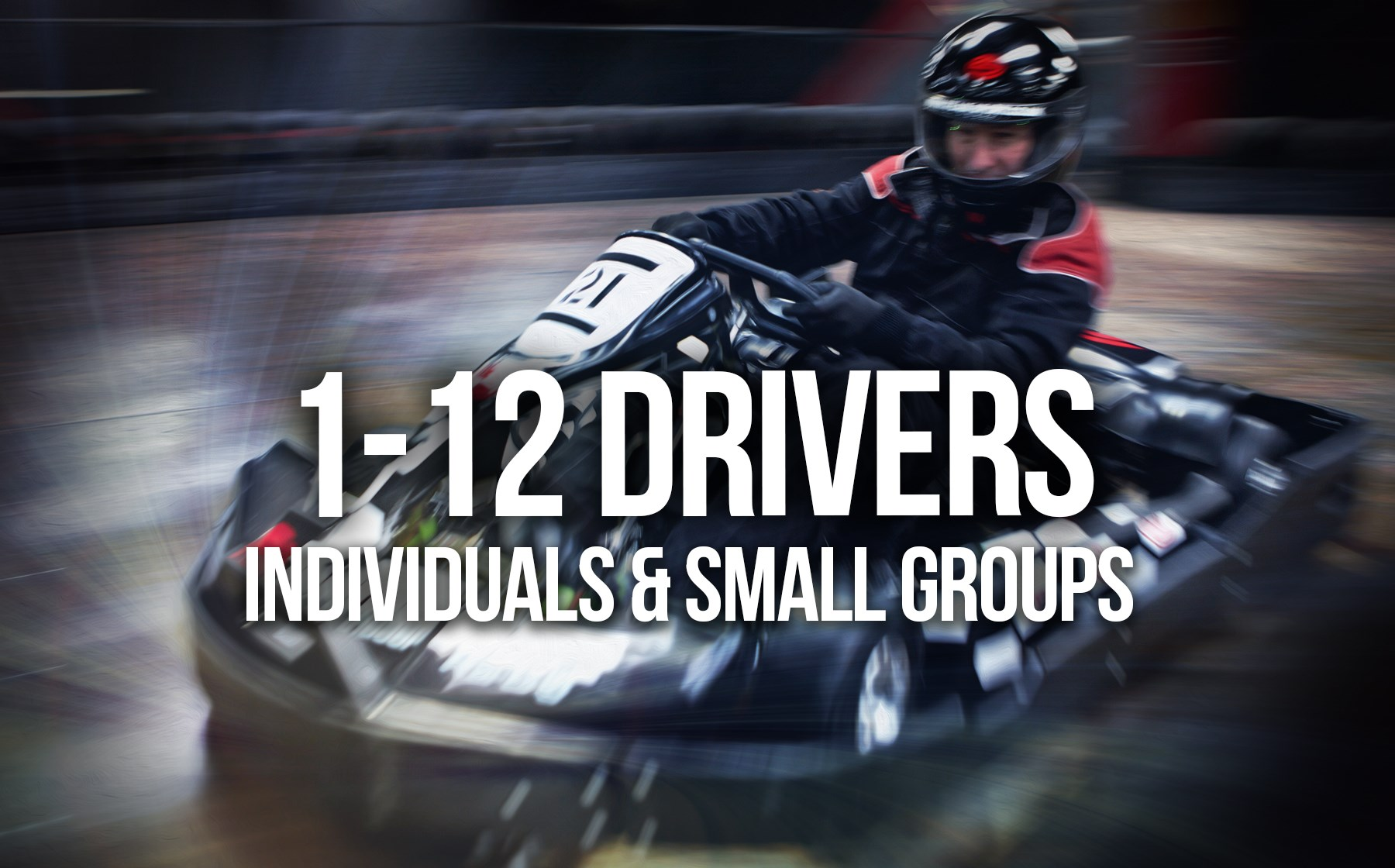 Indoor Go Karting  Events Gosport - Individuals and Small Groups