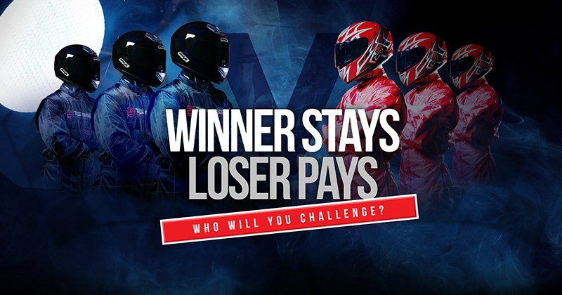 CORPORATE GO KARTING EVENTS - Winner Stays Loser Pays