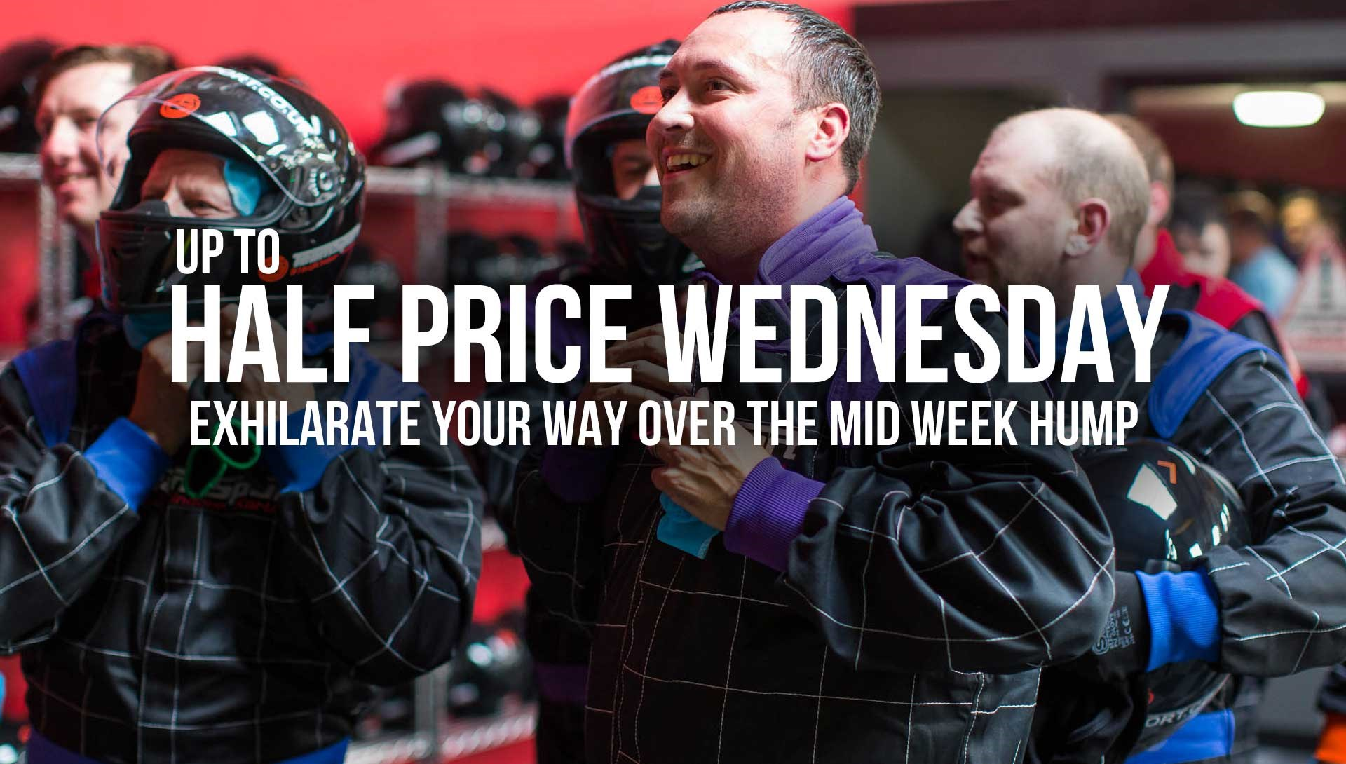 GO KARTING OFFERS - Up to Half Price Wednesday
