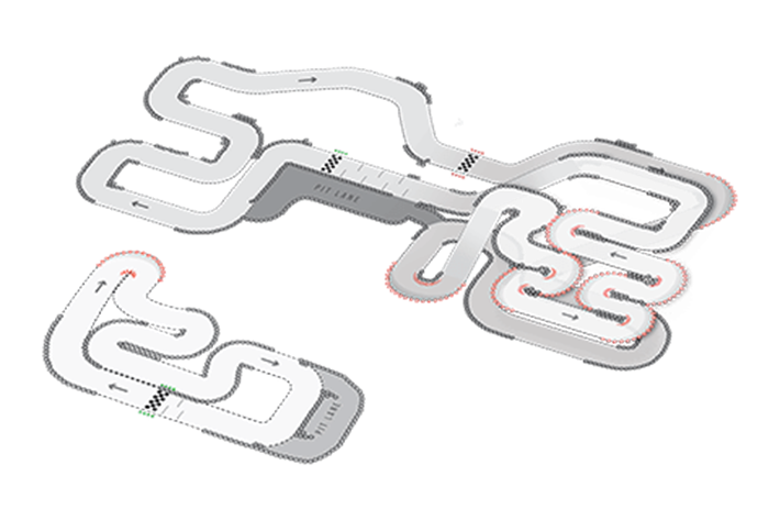 Track Layout of Warrington