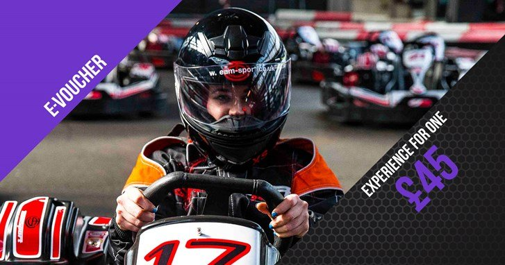 Go Karting Experience Gift Vouchers - Race Experience For 1 e-Voucher